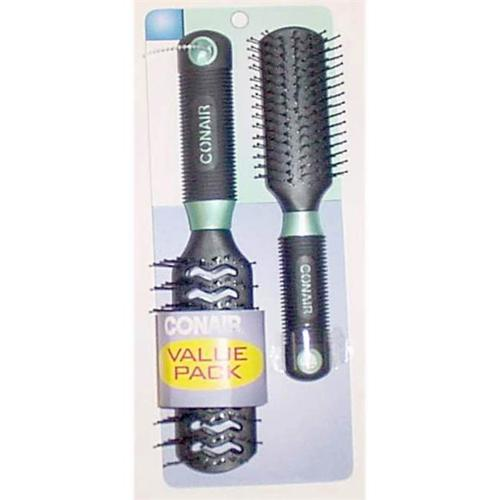 Conair Professional Full-Size and Mid-Size Hair Brush Set, Color May Vary 1 ea