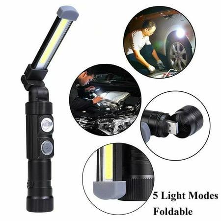 360 Degree Led Flashlight - VicTsing COB LED Magnet USB Rechargeable Waterproof Foldable Flashlight 360 degree Rotate Torch