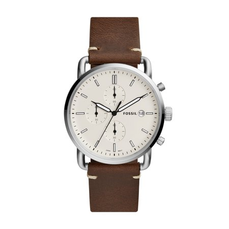 Fossil Men's Commuter Chronograph Brown Leather Watch (Style: (John Deere Fossil Watch)