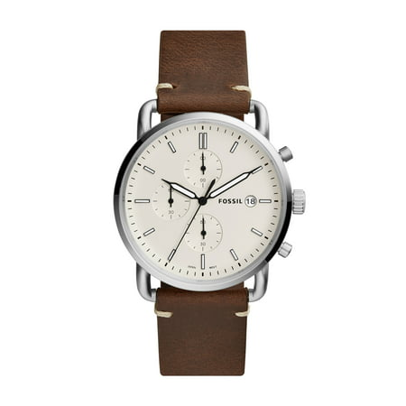 Fossil Men's Commuter Chronograph Brown Leather Watch (Style: FS5402) ()