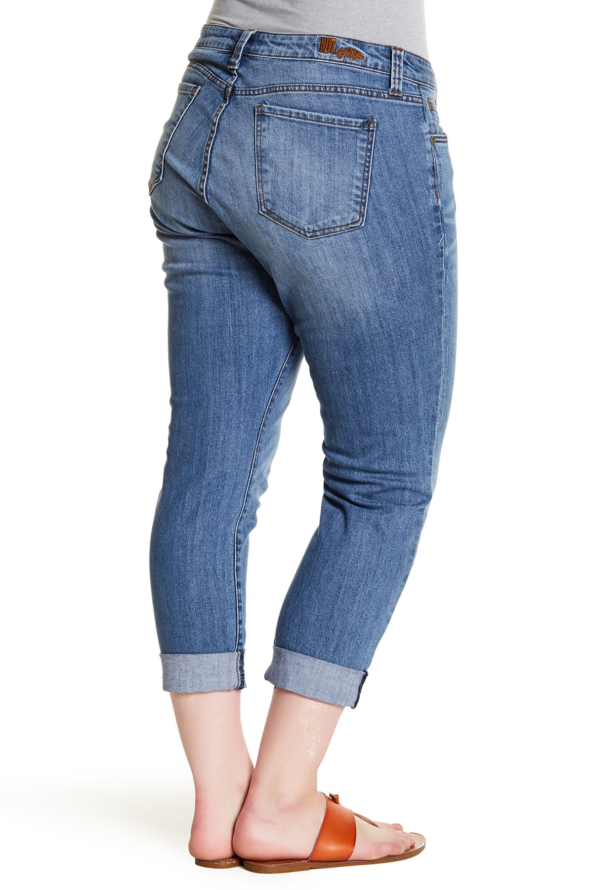 93a99b6c907de Kut from the Kloth NEW Women s 18W Plus Boyfriend Stretch Cuffed Jeans -  Walmart.com
