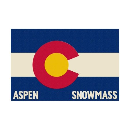 Aspen - Snowmass, Colorado State Flag Print Wall Art By Lantern Press