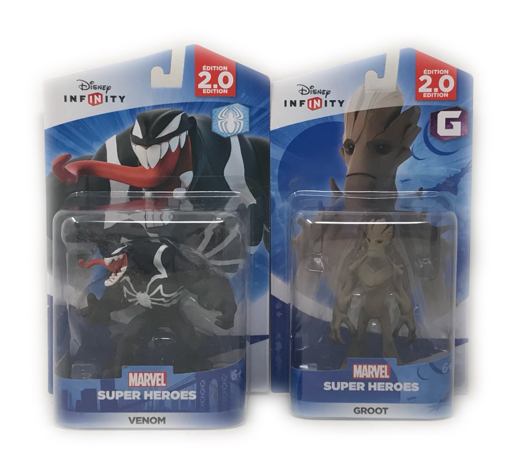 Disney Infinity Groot & Venom Figurines 2.0 Edition Guardians Of The Galaxy The Amazing Spider-Man Series (Not... by