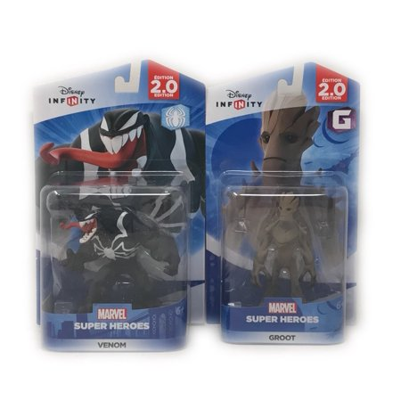 Disney Infinity Groot & Venom Figurines 2.0 Edition Guardians Of The Galaxy - The Amazing Spider-Man Series (Not Machine