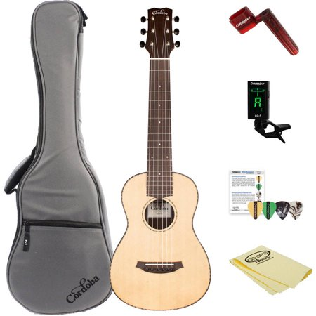 Cordoba Mini R Miniature Acoustic Nylon String Guitar with Gig Bag and ChromaCast Accessories