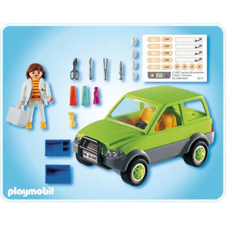 Zoo Animal Clinic Vet with Car Set Playmobil 4345