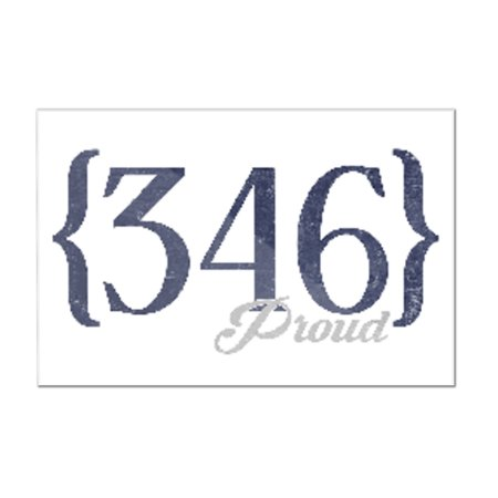 Houston, Texas - 346 Area Code (Blue) - Lantern Press Artwork (12x8 Acrylic Wall Art Gallery Quality) ()