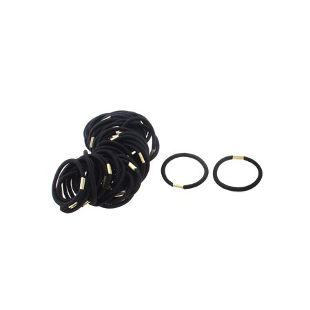 Women Elastic Hair Tie Rope Ring Band Hairband Ponytail Holder Black 50pcs d0d60c68be9