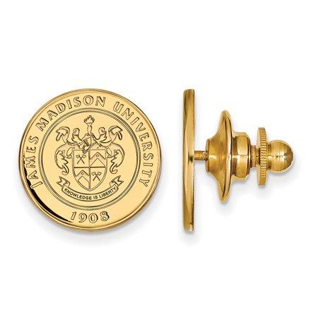 LogoArt 14k Yellow Gold James Madison University Crest Lapel Pin 4Y016JMU