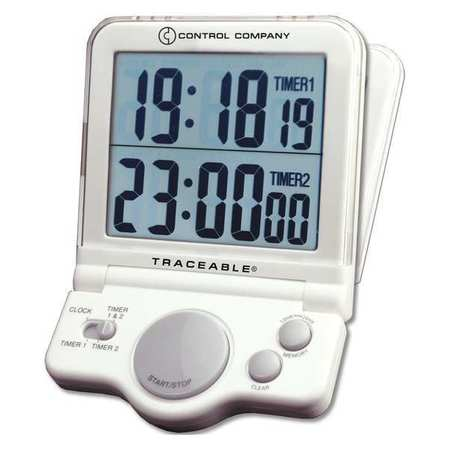 TRACEABLE 5023 Jumbo Timer, Display 1 In. LCD