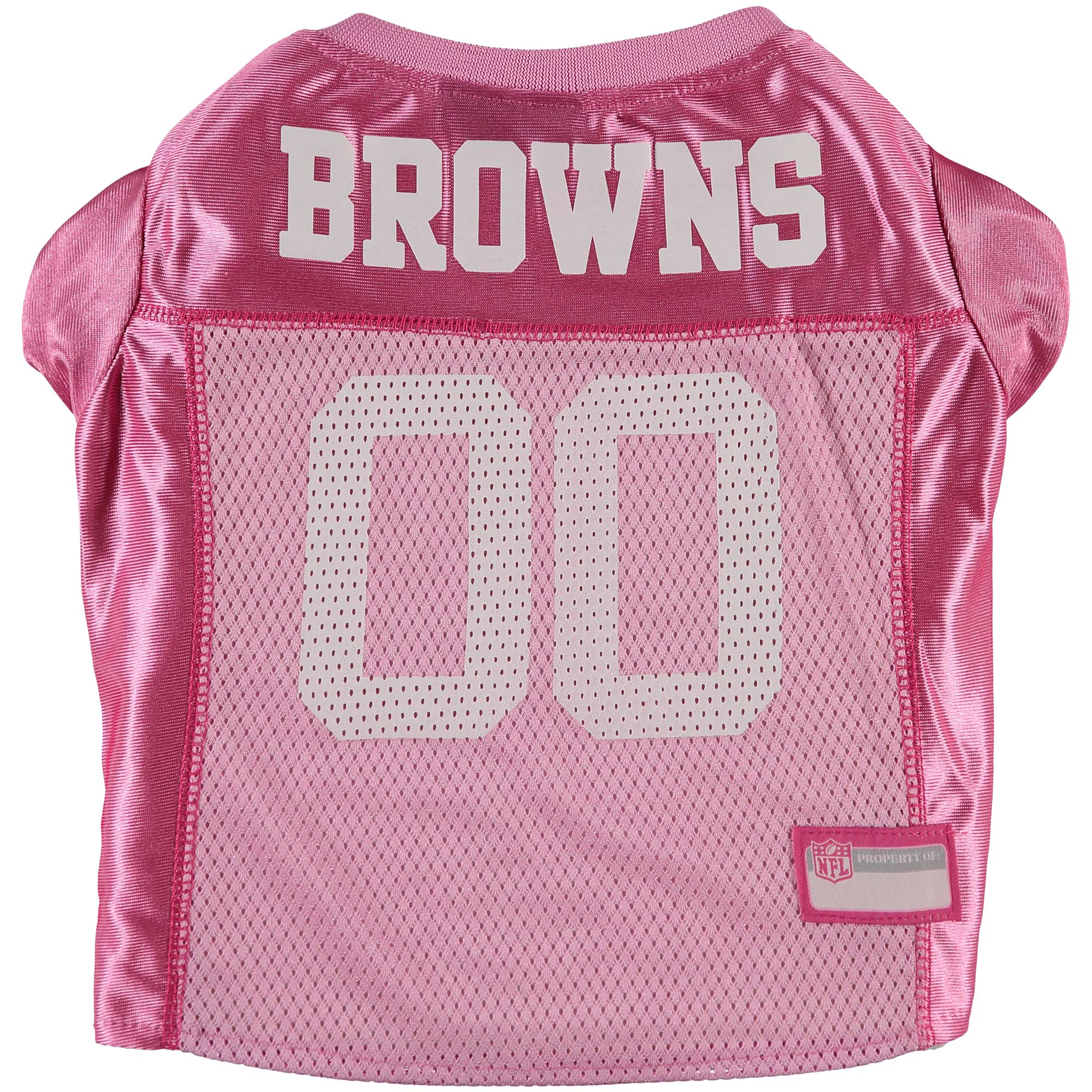 Cleveland Browns Mesh Dog Jersey - Pink