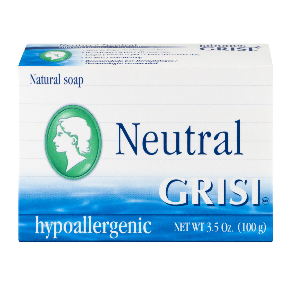 Grisi Neutral Natural Soap Hypoallergenic, 3.5 OZ
