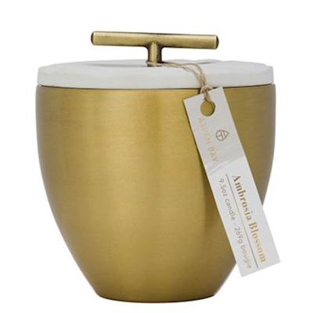 AMBROSIA BLOSSOM Aspen Bay Metal Austin Cup 9.5 Ounce Signature Collection  Scented Jar Candle