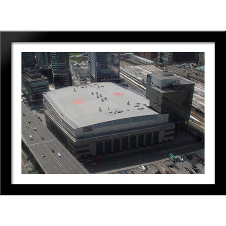 Air Canada Centre 40X28 Large Black Wood Framed Print Art   Home Of The Toronto Raptors