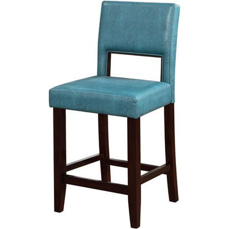 linon vega counter stool agean blue 24 inch seat height. Black Bedroom Furniture Sets. Home Design Ideas