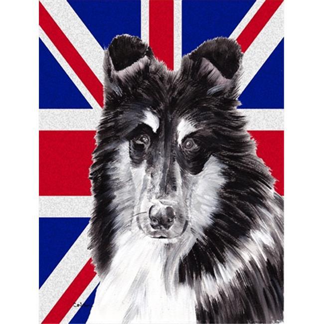 Carolines Treasures SC9893GF Collie With English Union Jack British Flag Flag Garden Size - image 1 of 1