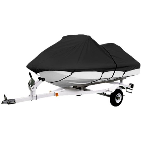 "Black Trailerable PWC Personal Watercraft Cover Covers Fits 1-2 Seat Or 116""-126"" Length Waverunner, Sea Doo, Jet Ski, Polaris, Yamaha, Kawasaki Covers"