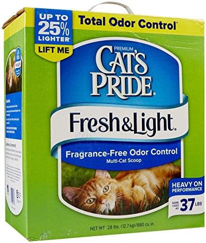 Cat's Pride Premium Fresh & Light Fragrance Free Multi-Cat Scoopable Cat Litter, 28-Lb Box