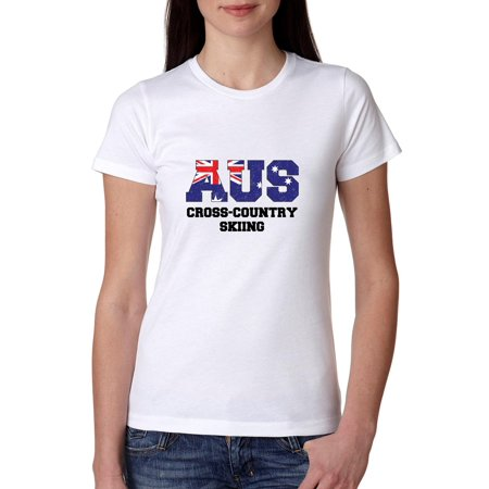 Australia Cross Country Skiing - Winter Olympic - Korea Women's Cotton T-Shirt ()