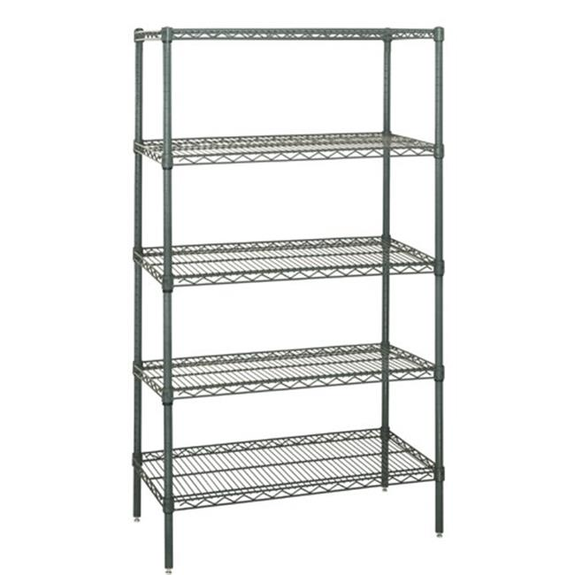 Quantum Storage WR63-1848P-5 5-Shelf Proform Wire Shelving Starter Kit, 18 x 48 x 63 in.