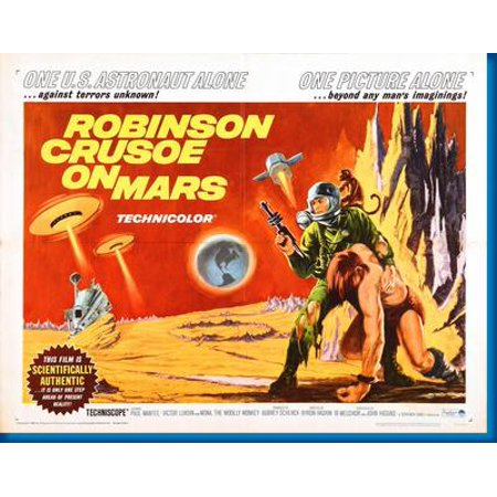 Robinson Mini - Robinson Crusoe On Mars Hz Movie 11x17 Mini Poster Entertainment decor