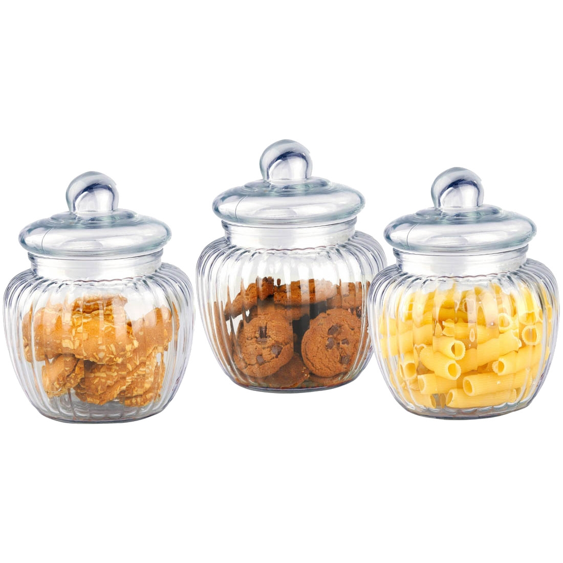 Home Basics 3-Piece Glass Jar Set by HDS Trading Corp.
