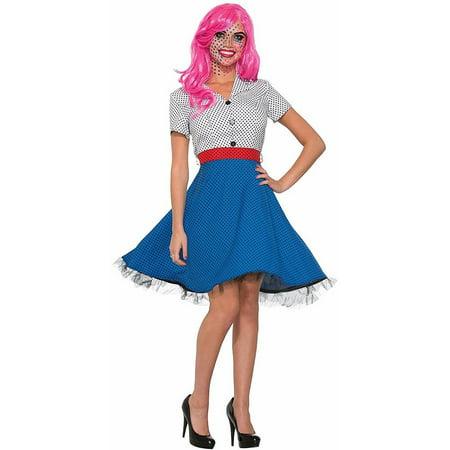 Pop Art Ms. Dottie Costume Dress Adult Women Standard - image 1 of 1