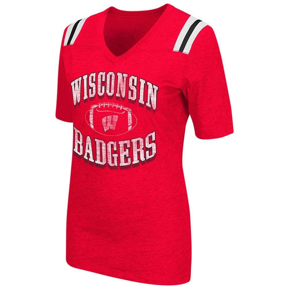 Wisconsin Badgers Women's Artistic T-Shirt