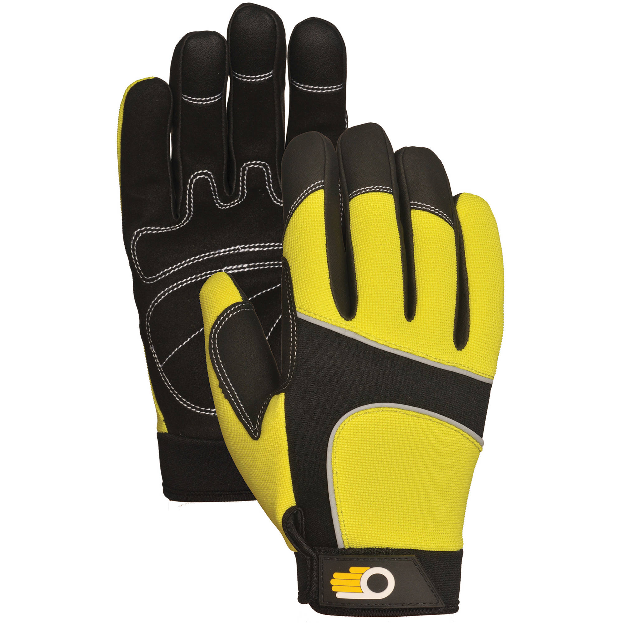 Bellingham Glove C7782HVM Medium Men's Performance Hi Viz Synthetic Palm Gloves