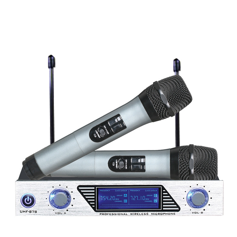 ARCHEER VHF Wireless Microphone System Mini Professional Home KTV Set --Dual Channel... by