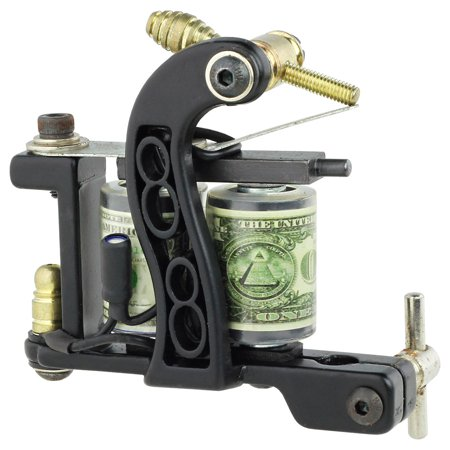 Pro Tattoo Machine Gun Liner Shader Premium 10-Wrap Coils Smooth & Powerful