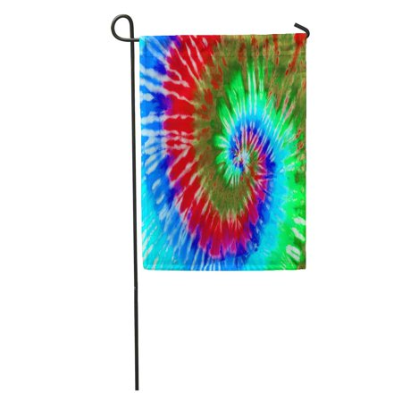 KDAGR Hippie Colorful Psychedelic Tie Dye Swirl Pattern 1970S 60S Abstract Garden Flag Decorative Flag House Banner 12x18 inch (60s Tie)