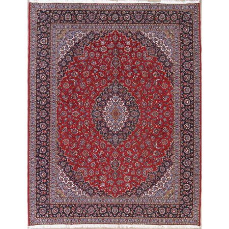 Machine Made Traditional 10x13 Wool Acrylic Floral Oriental Rug Red