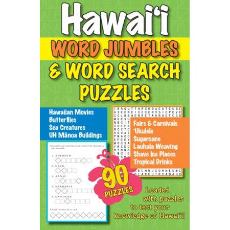 Hawaii Word Jumbles and Word Search Puzzles](Halloween Word Jumbles)