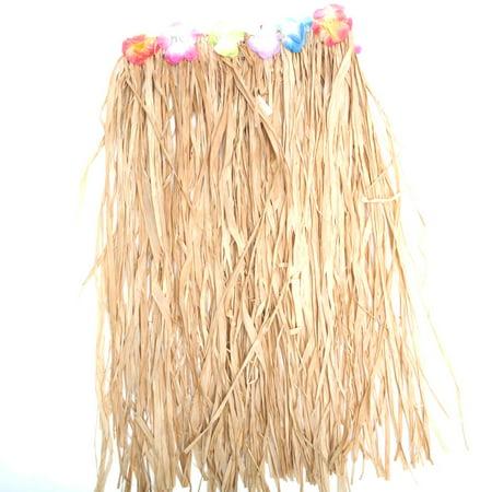 Adult Raffia Flowered Grass Skirt](Raffia Skirts)