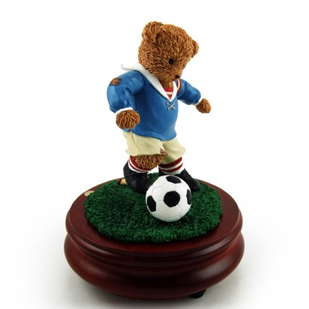 Thread Bears - World Cup Soccer Threadbear Musical Figurine - Over 400 Song Choices - Ave Maria,