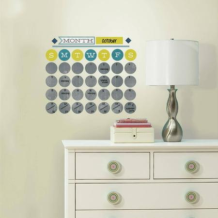 roommates retro dry erase calendar peel and stick wall. Black Bedroom Furniture Sets. Home Design Ideas