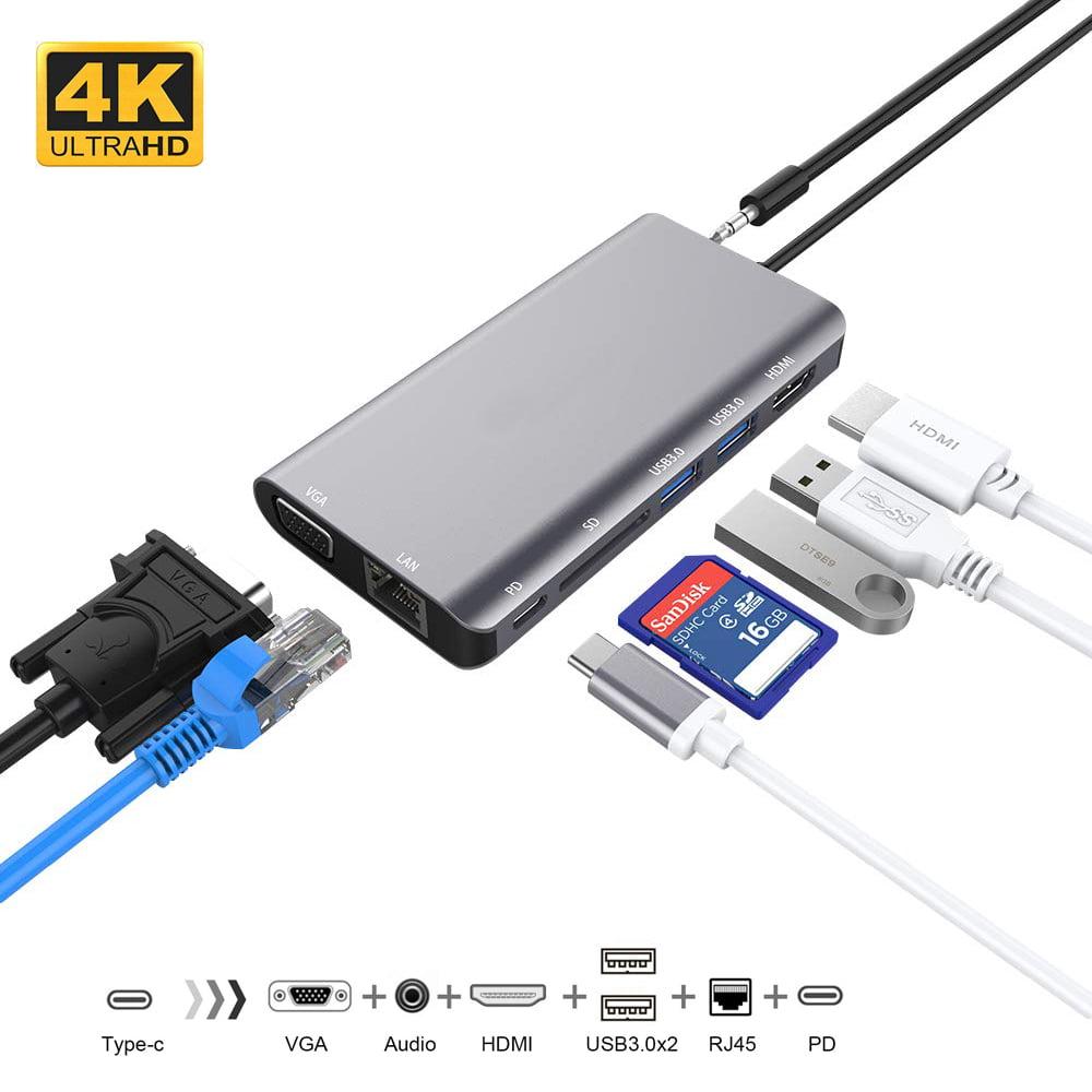 USB C Hub Adapter for MacBook Air 2018, MacBook Pro 2018 ...