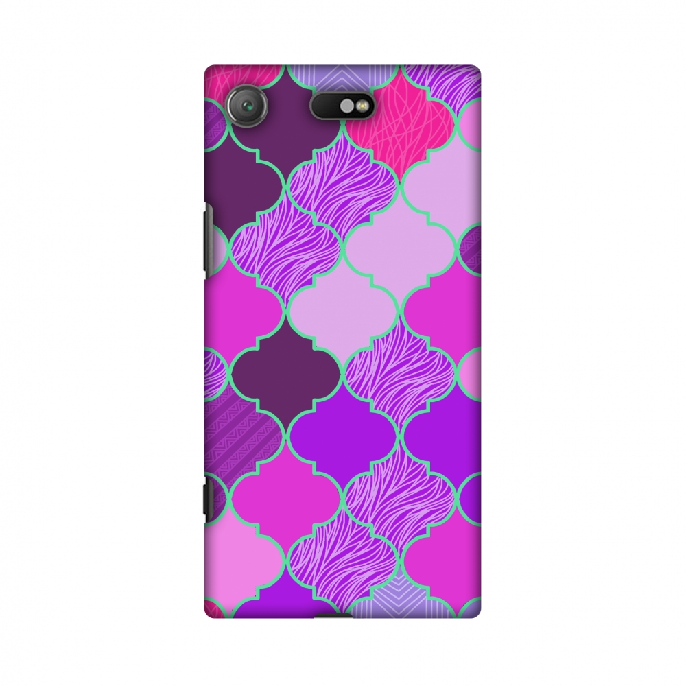 Sony Xperia XZ1 Compact Case - Stained glass- Cerise pink Compact, Hard Plastic Back Cover, Slim Profile Cute Printed Designer Snap on Case with Screen Cleaning Kit