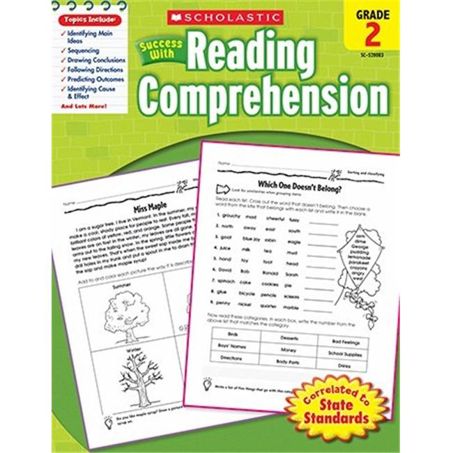 Scholastic Teaching Resources SC-9780545200837 Scholastic Success With Reading- Comprehension Gr 2