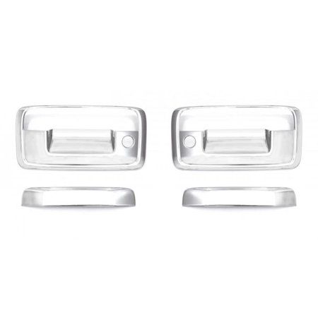 AVS 02-08 Dodge RAM 1500 Tailgate Handle Cover 2pc - - F350 Chrome Tailgate