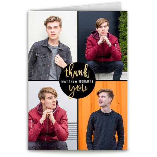 All That Glam Graduation Thank You Card