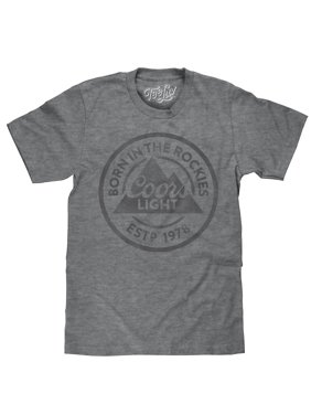03e78f0f1a7 Product Image Tee Luv Coors Light Beer T-Shirt Born in the Rockies  (Graphite)