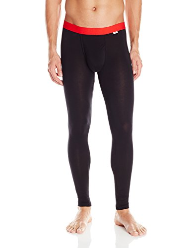 MyPakage Men's Weekday First Layer Base Layer Bottom, Black Red, Large by My Pakage Apparel