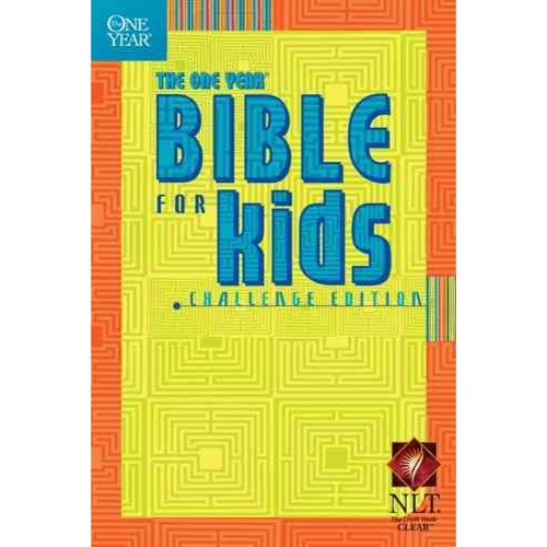 The One Year Bible for Kids: Challenge Edition; Greatest Bible Passages Arranged in 365 Daily Readings from the New Living Translation