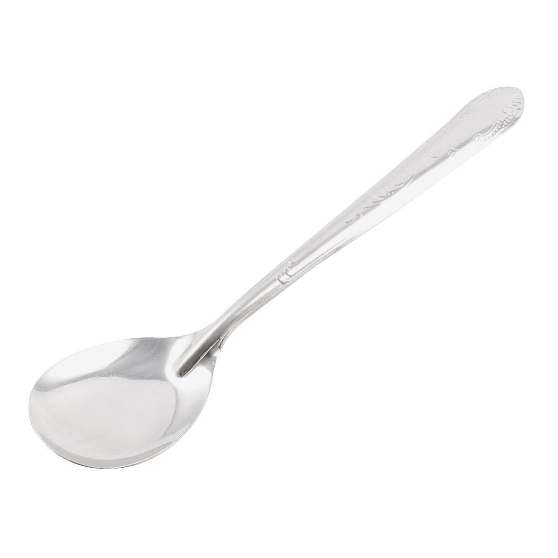 14cm Long Stainless Steel Kitchen Table Tea Soup Serving Spoon Scoop Silver Tone by