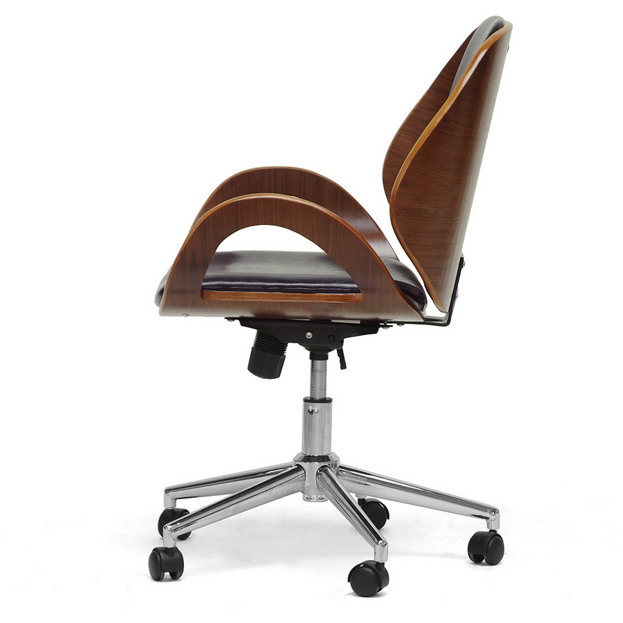 Watson Walnut and Black Modern fice Chair Walmart