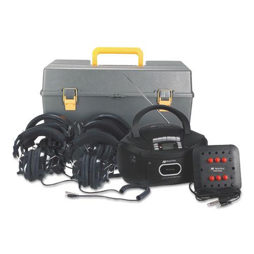 Amplivox Sound SIX-STATION LISTENING CENTER DELUXE CD/CAS...