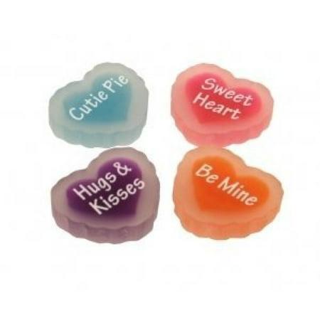 Be Mine Love Message Erasers - Set Of 4](Bulk Erasers)