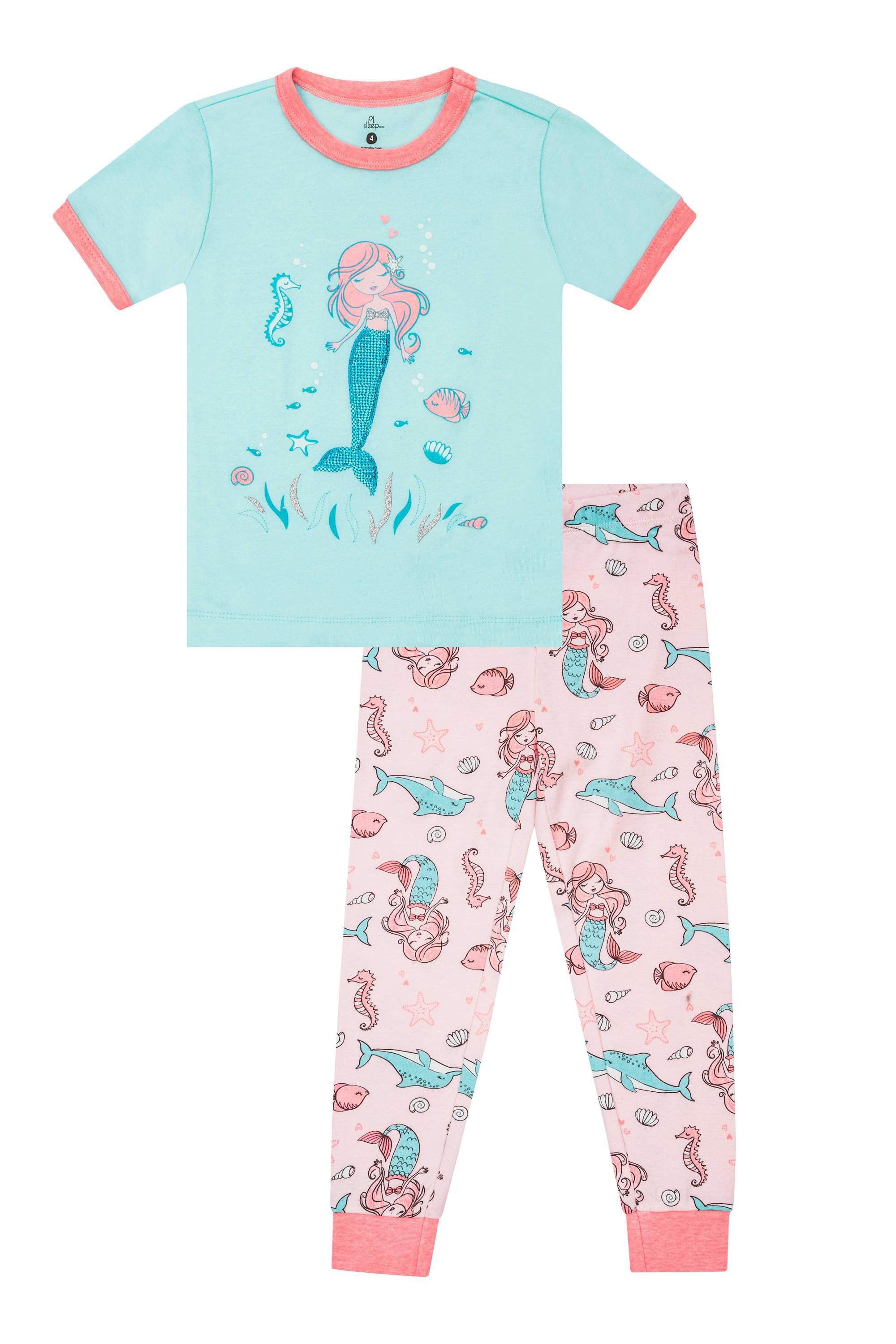 Cotton Tight Fit, 2pc Pajama Set (Toddler Girls)